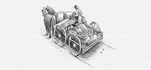 Illustration Kartoffelwagen